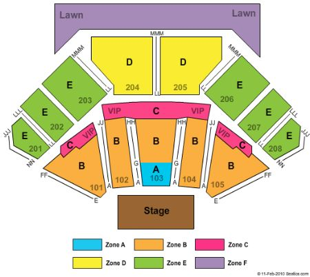 Hollywood Casino Amphitheatre Seating Chart Hollywood