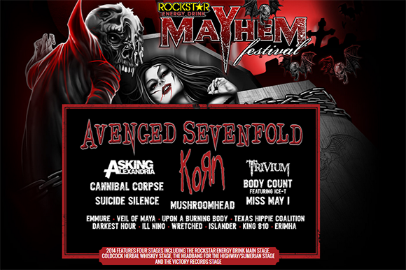 Rockstar Energy Mayhem Festival at First Midwest Bank Ampitheatre