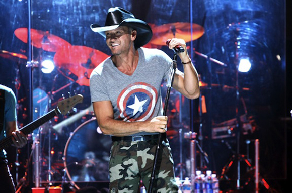 Tim McGraw, Billy Currington & Chase Bryant at First Midwest Bank Ampitheatre