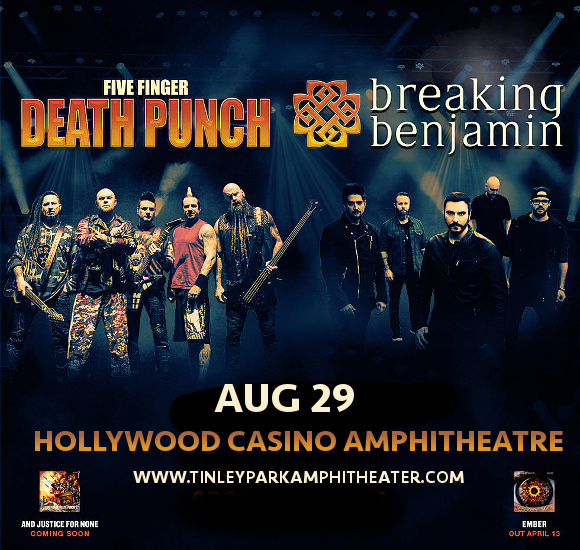 Five Finger Death Punch & Breaking Benjamin at Hollywood Casino Ampitheatre