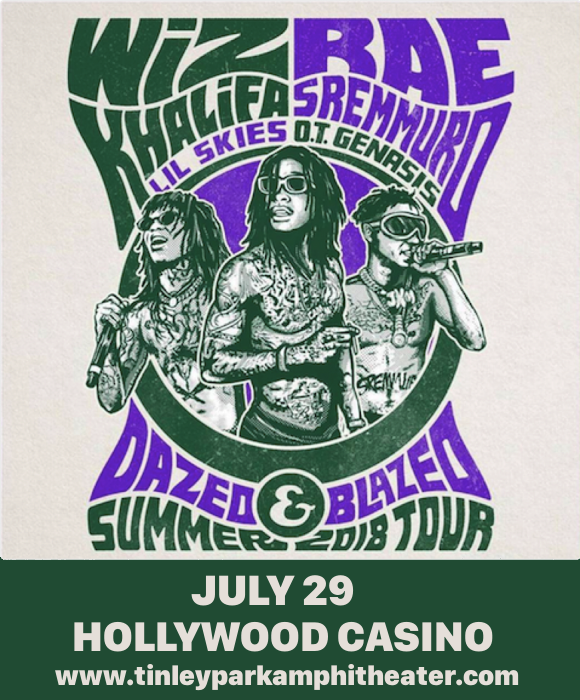 Wiz Khalifa & Rae Sremmurd at Hollywood Casino Ampitheatre