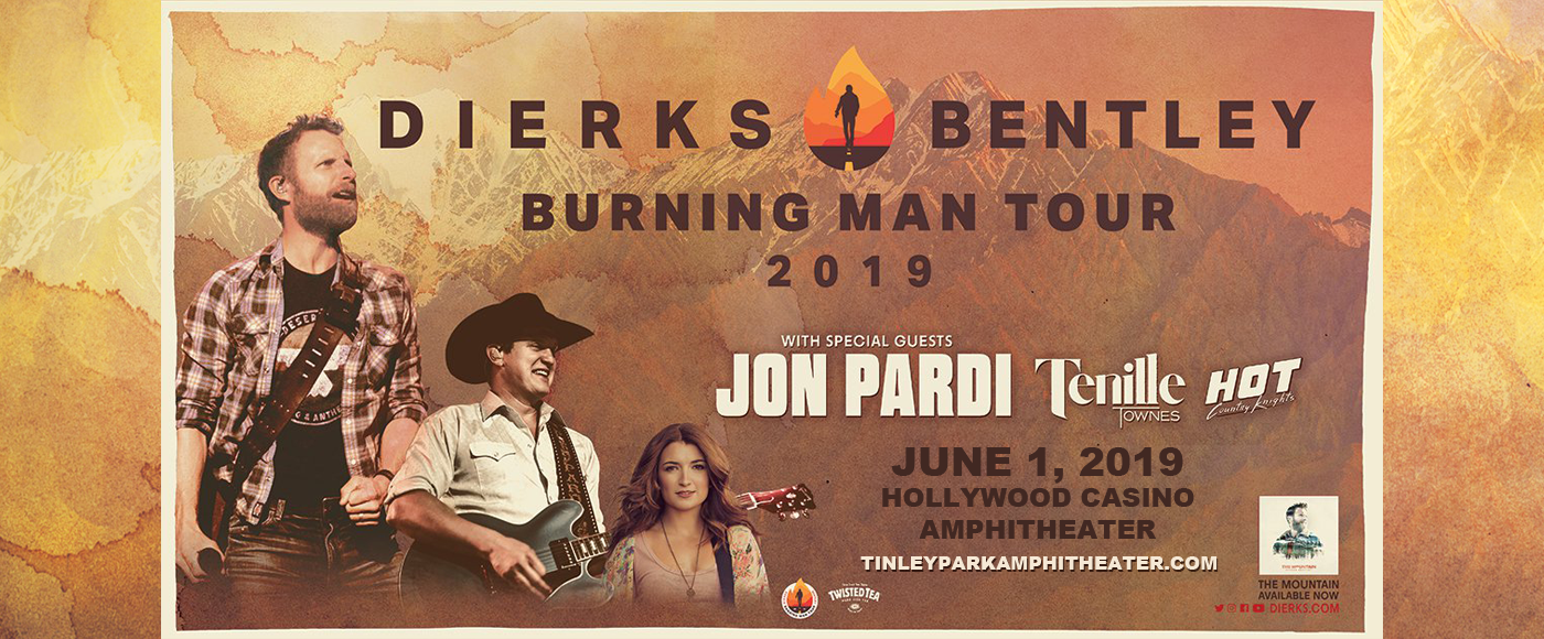 Dierks Bentley, Jon Pardi & Tenille Townes at Hollywood Casino Ampitheatre