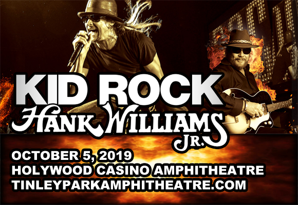 Image result for Kid Rock + Hank Williams Jr. coming to Hollywood Casino Amphitheatre