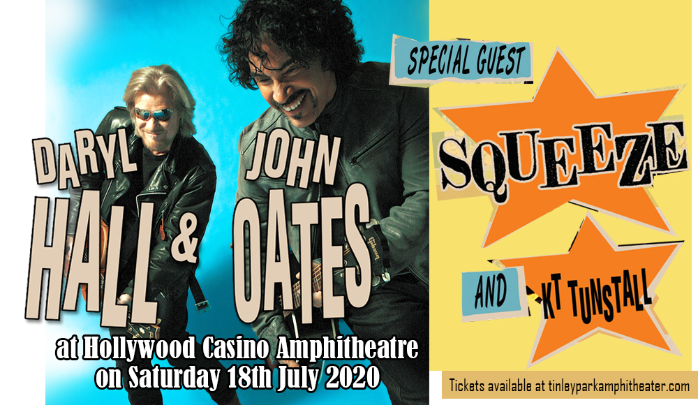 Hall and Oates, KT Tunstall & Squeeze at Hollywood Casino Amphitheatre
