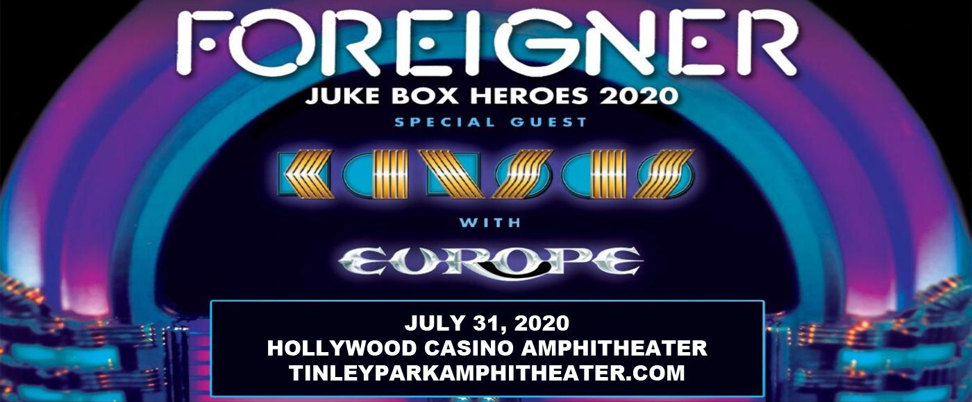 Foreigner, Kansas & Europe at Hollywood Casino Amphitheatre