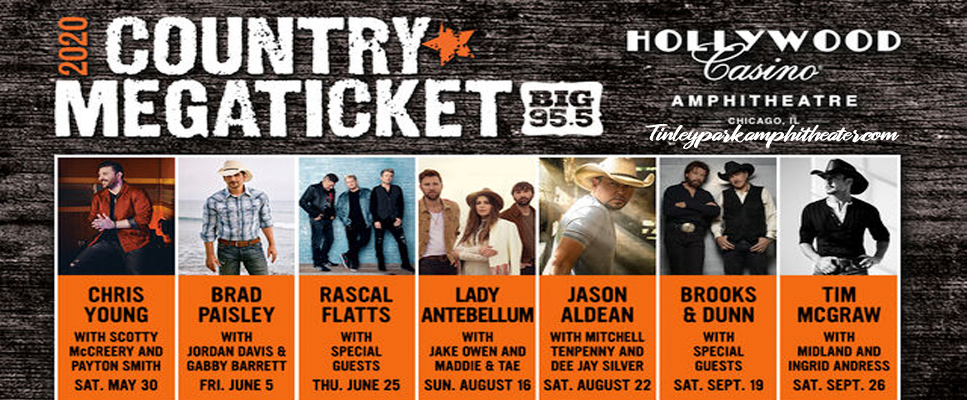 Country Megaticket (Includes Tickets To All Performances) [CANCELLED] at Hollywood Casino Amphitheatre