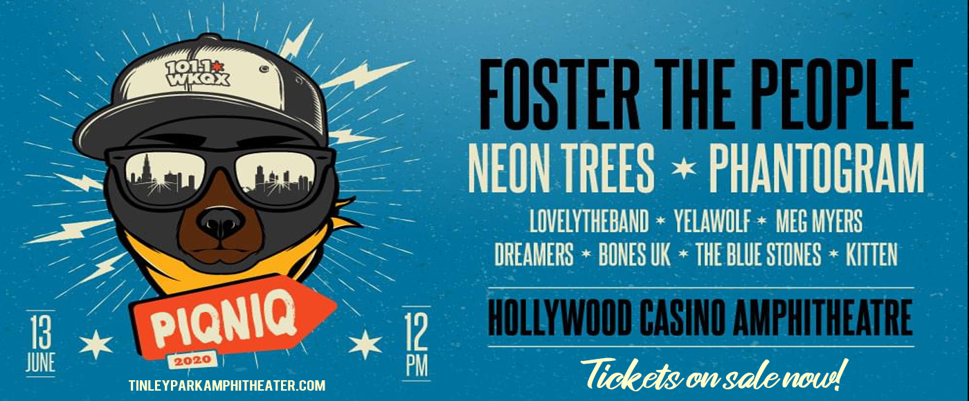 101WKQX Piqniq: Foster The People, Neon Trees, Phantogram & Yelawolf [CANCELLED] at Hollywood Casino Amphitheatre