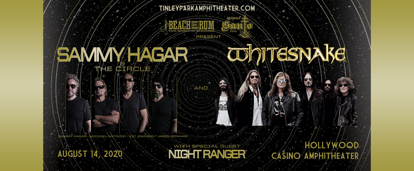 Sammy Hagar and the Circle & Whitesnake [CANCELLED] at Hollywood Casino Amphitheatre
