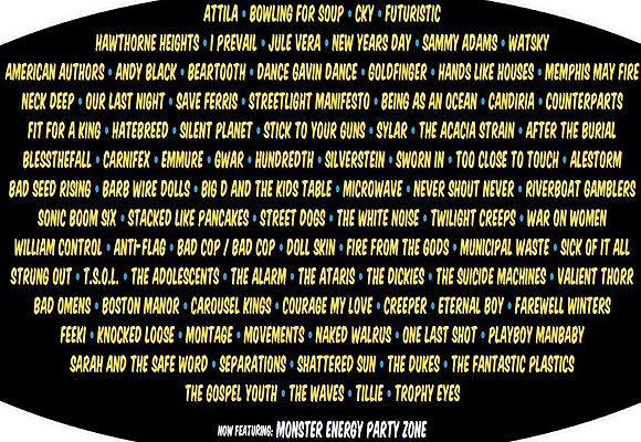 Vans Warped Tour at Hollywood Casino Ampitheatre